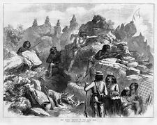 MODOC INDIANS IN THE LAVA BED 1873 INDIAN WAR IN CALIFORNIA GUNS MODOC HISTORY