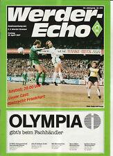 BL 86/87 SV Werder Bremen - Eintracht Frankfurt