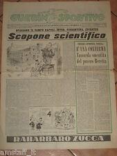 GUERIN SPORTIVO 1953/33 NAPOLI INTER FIORENTINA JUVENTUS SCOPONE SCIENTIFICO