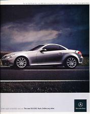 2005 Mercedes Benz SLK350 2-page - Classic Car Advertisement Print Ad J98