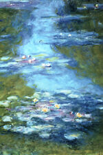 Claude Monet Water Lilies Pond French Impressionist Painter Art Poster 12x18 inc