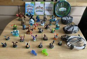 Skylanders Bundle Xbox 360 Games Figures Traps Bag Trap Team Swap Force Spyros