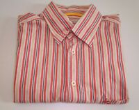 Men's CAMEL ACTIVE Casual Short Sleeve Cotton Shirt Striped Size L Large