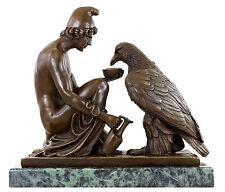 Mytholigie Bronze Ganymed - den Adler des Zeus tränkend signiert B. Thorvaldsen