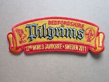22nd WSJ Bedfordshire Pilgrims Cloth Patch Badge Boy Scouts Scouting L5K G