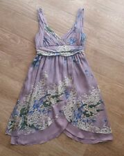 ZARA Beautiful Lilac SILK DRESS Size S - M Worn Once and in EXCELLENT condition