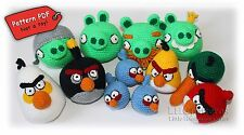 Angry Birds and Bad Piggies Crochet Toys Pattern