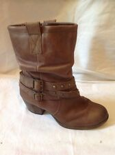 Caravelle Brown Ankle Leather Boots Size 3