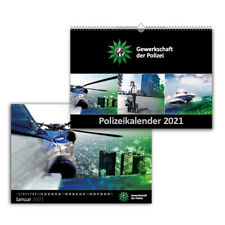 Polizei Kalender Bildkalender 2021 ~ PLUS 1 IPA Aufkleber ~ LIEFERUNG 10/2021 !
