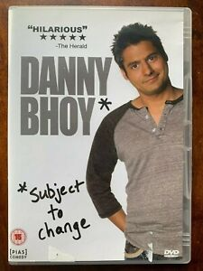Danny Bhoy Subject to Chage DVD 2010 Scottish Live Stand Up Comedy