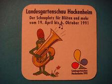 Beer Coaster ~ Eichbaum Brauereien Ureich Pils <> Mannheim, Germany; Frog & Horn