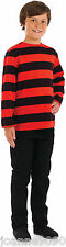 Boys Girls Dennis The Menace Red And Black Striped Fancy Dress Costume Jumper BN