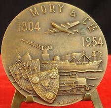 Medaglia Nicolas Toussaint Mory & Co Aereo Barca Treno Logistica Baron Medal 勋