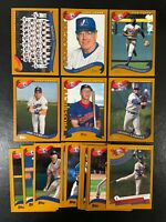 2002 TOPPS MONTREAL EXPOS TEAM SET (19) CARDS