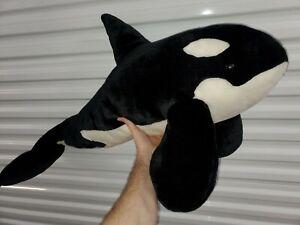 "Sea World 36"" Jumbo Shamu Orca Killer Whale Plush. Nice Condition."
