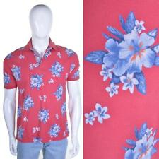 TOMMY HILFIGER Vintage Floral Polo Shirt S Hawaiian Flower Print T Top 90s