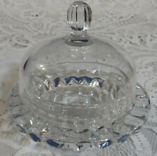 ANTIQUE LARGE EAPG COVERED DOME BELL GLASS CHEESE BUTTER JAM DISH w/ LID