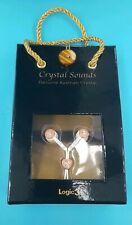 LOGIC3 AUSTRIAN CRYSTAL EARPHONES -PINK HEARTS DESIGN PHONE or MP3 PLAYER