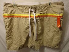 "NWT Old Navy Mens 100% Polyester Flat Shorts Size XL Beige 7"" Inseam"