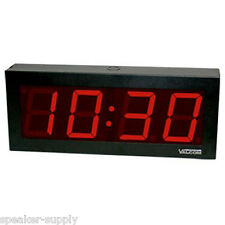 "VALCOM IP PoE 4 Digit 4"" Large Digital Clock Display Office Wall RJ-45 VIP-D440"