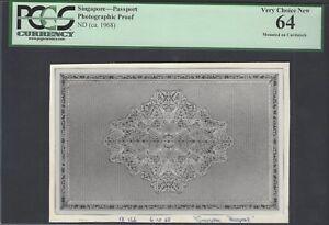Singapore - Passport ND(1968) Photographic Proof  Uncirculated