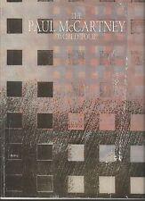 THE PAUL McCARTNEY WORLD TOUR~1989 PROGRAM /MAGAZINE TYPE 100 pp. GREAT MAGAZINE