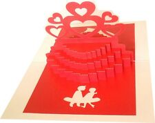3D Pop Up Anniversary Cake Greeting Card Handmade Best Gift Husband Wife