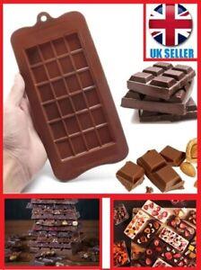 CHOCOLATE BAR MOULD BLOCK SQUARE Slab Silicone Cake Candy Sugar Decoration Grid