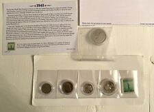 More details for 1941 philadelphia usa mint coin & stamp set by danbury mint