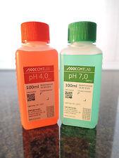 pH Pufferlösung, Set 100ml, pH4 + pH7, Industriequalität, Made in Germany
