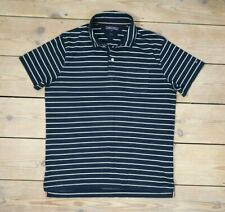 Mens Tommy Hilfiger Polo T-shirt Shirt Slim Fit XL Striped Navy Blue