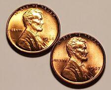 1946 D 1947 D Lincoln Wheat Penny Unc 2 Coin Set #H4068C