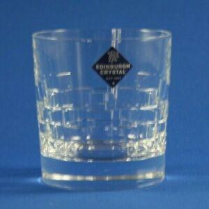 "EDINBURGH CRYSTAL -  SKIBO  -  9oz OLD FASHIONED WHISKY GLASS  8.6cm  /  3 3/8"""