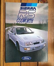 mint 1986 FORD SIERRA RS COSWORTH 3 DR BROCHURE original