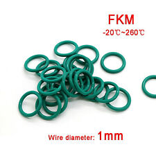 FKM Fluorine Rubber O Rings 4mm - 60mm Outer Dia. & 1mm Thickness O-Ring Seals