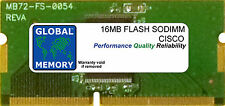 16MB FLASH SODIMM CISCO 871/871W/876 ADSL/877 ADSL/878/878W ROUTERS (MEM870-16F)