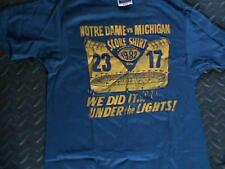"Vintage 1982 Notre Dame vs Michigan Football Score T-Shirt ""Under The Lights"" M"