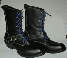 John Fluevog Earl Of Warwick Black Leather Boots Men's 12