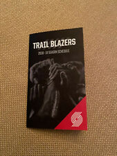 2018-19 Portland Trail Blazers Basketball Pocket Schedule MODA Version