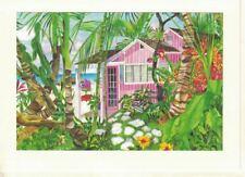 Eileen Seitz The Pink Palm House ArtCard Hand Mounted 5x7 Print Blank Card