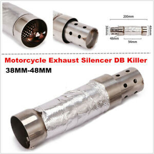38-48MM Motorcycle Bikes Exhaust Silencer Baffle Insert Muffler Pipes DB Killer