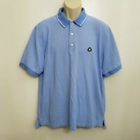 Brooks Brothers St Andrews Links Mens Polo Shirt Large Blue White Short Sleeve