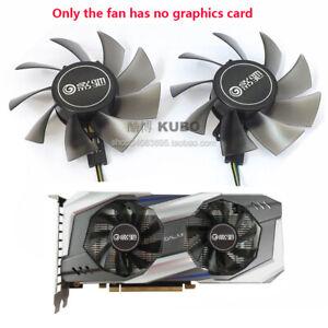 For GALAXY GTX1060 960 P106 Graphics card dual fan T128015DU 12V 0.5A 4-Pin