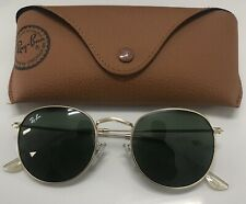 Ray-Ban Round Metal Sunglasses. NEW/Gold/g-15 Lens Trendy.fashion