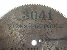 SYMPHONION dentatura esterna piastra di lamiera 12,5cm JUNGHANS orologio Antique clock Disc