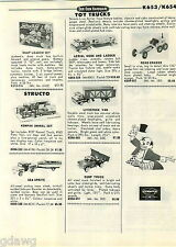 1968 PAPER AD Structo Kompak Sea Sprite Boat Grader Marx Ertl Scout IH Tourneau