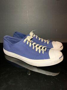 Converse Jack Purcell Canvas Blue Sneakers Men 12 US women 13.5 US