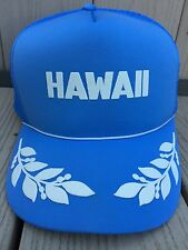 Vintage Hawaii Trucker Hat Cap Baby Blue One Size Snap Back Adjustable