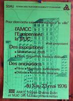 Affiche de 1976 ✤ Expo : Aménagement & Urbanisme ✤ AMCC Chambéry ✤ 40 x 60