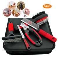 5 pcs Pet Hair Scissors Set Dog Cat Grooming Cutting Thinning Curved Shears Comb